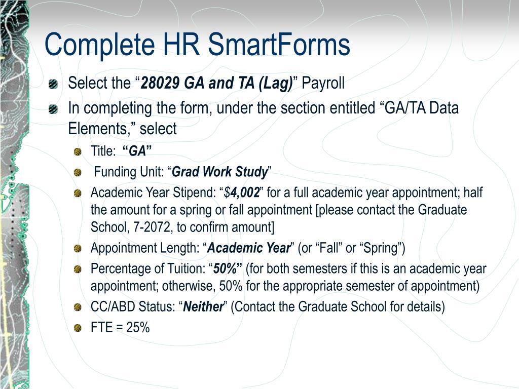 Complete HR SmartForms