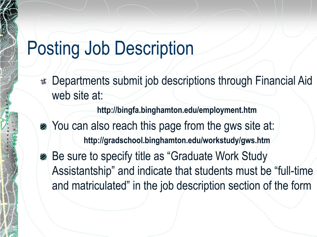Posting Job Description