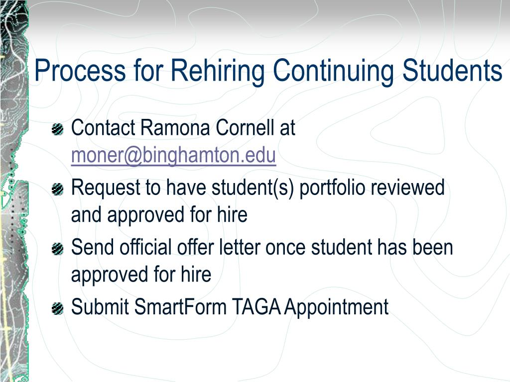 Process for Rehiring Continuing Students