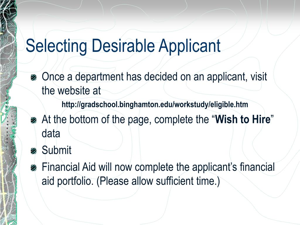Selecting Desirable Applicant