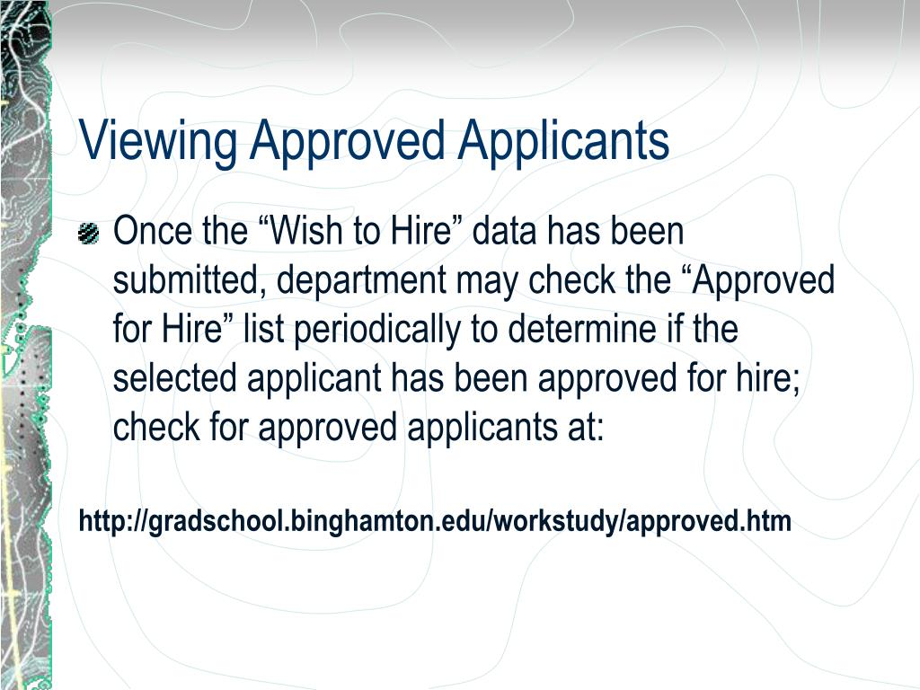 Viewing Approved Applicants