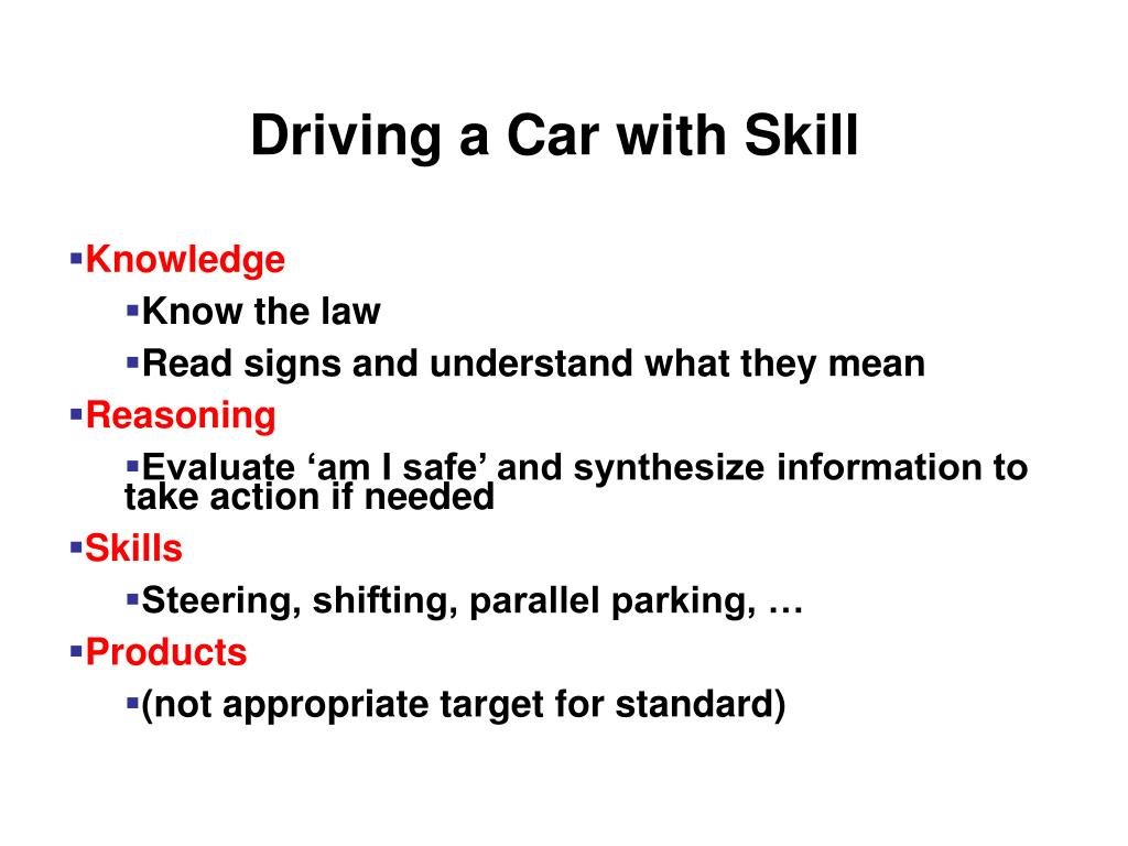 Driving a Car with Skill