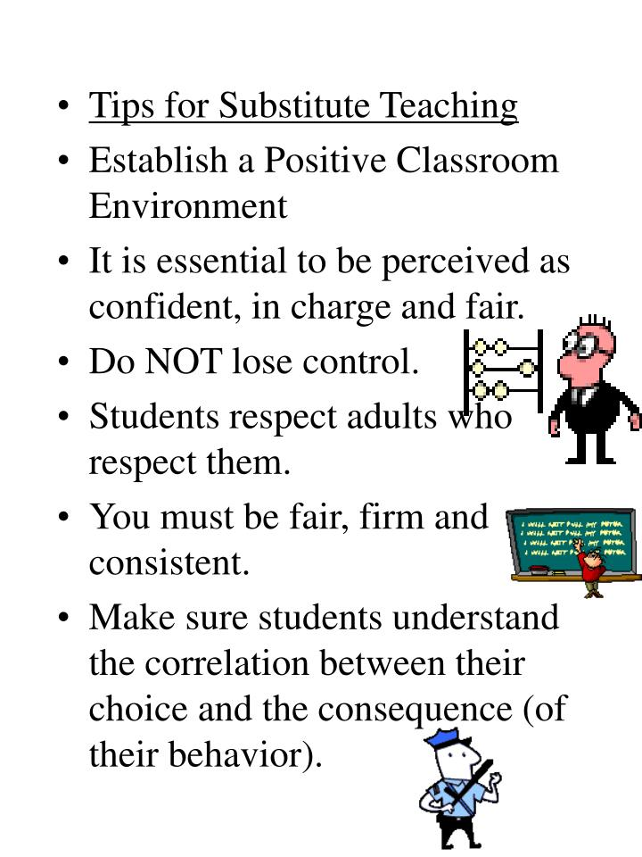 Tips for Substitute Teaching