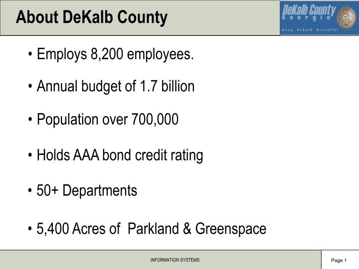 About dekalb county