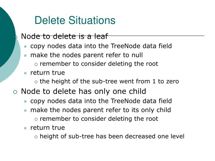 Delete Situations