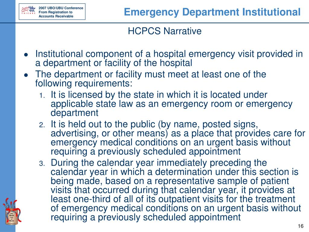 Emergency Department Institutional