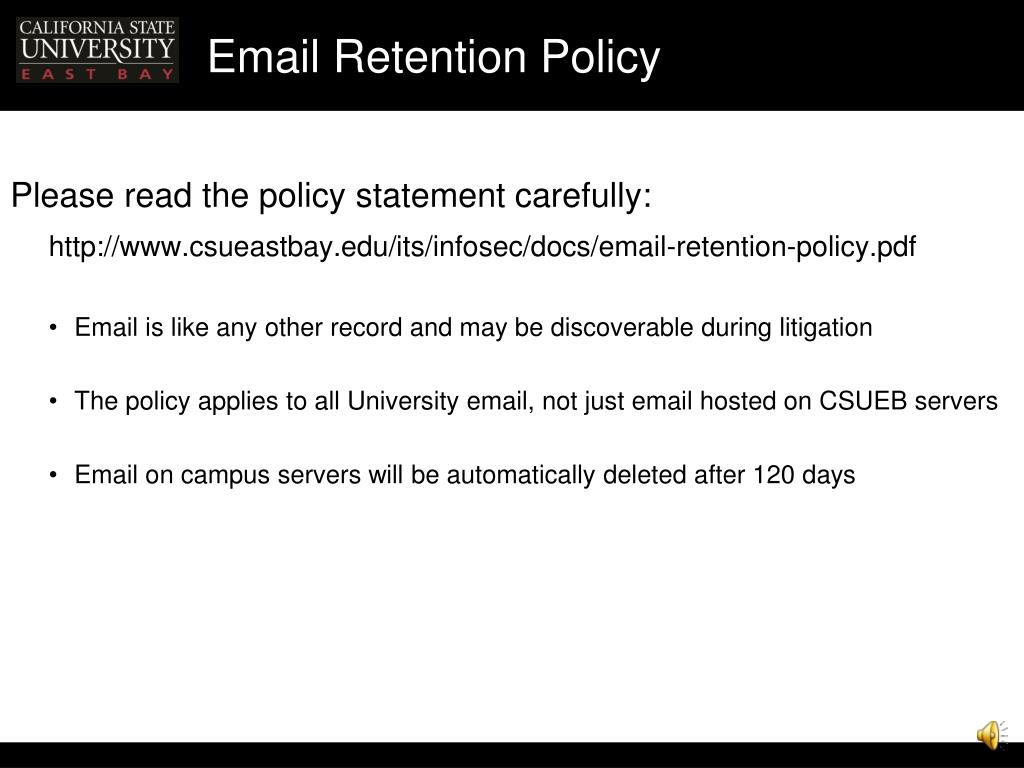 Email Retention Policy