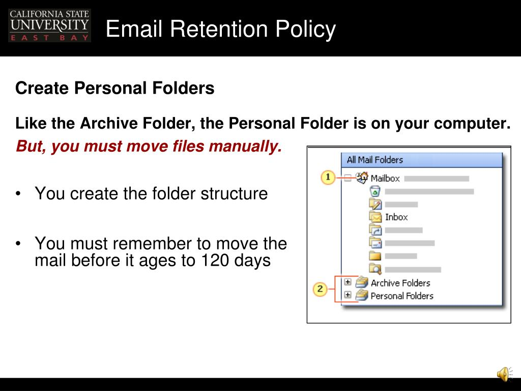 Ppt email retention policy presentation handouts for Email retention policy template