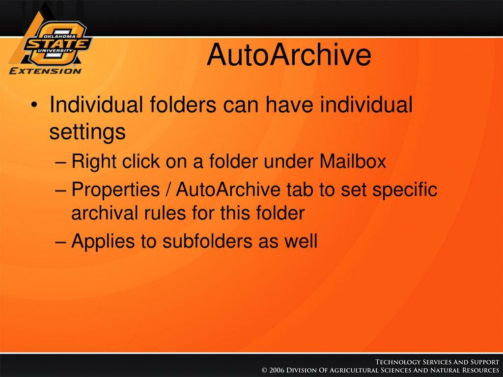 AutoArchive
