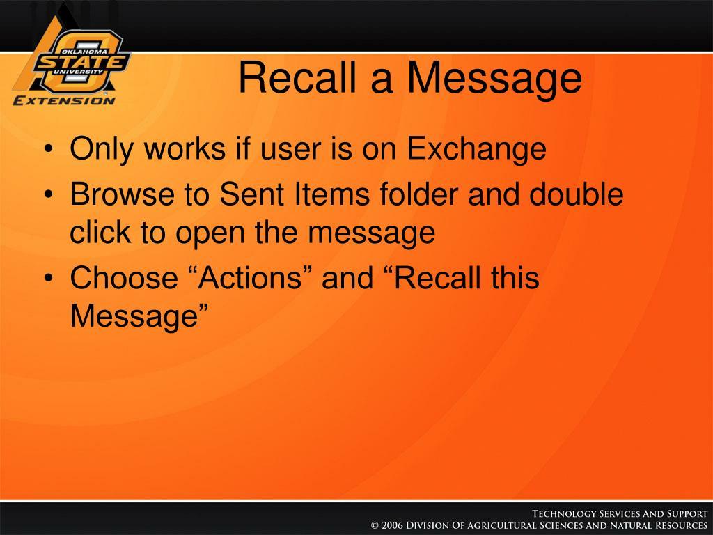 Recall a Message
