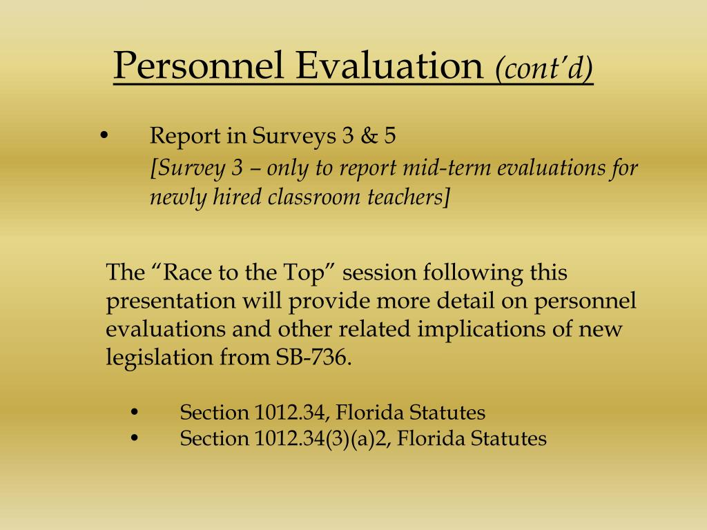Personnel Evaluation