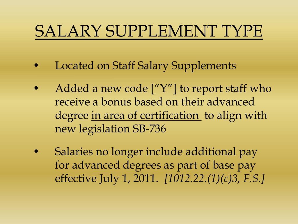 SALARY SUPPLEMENT TYPE