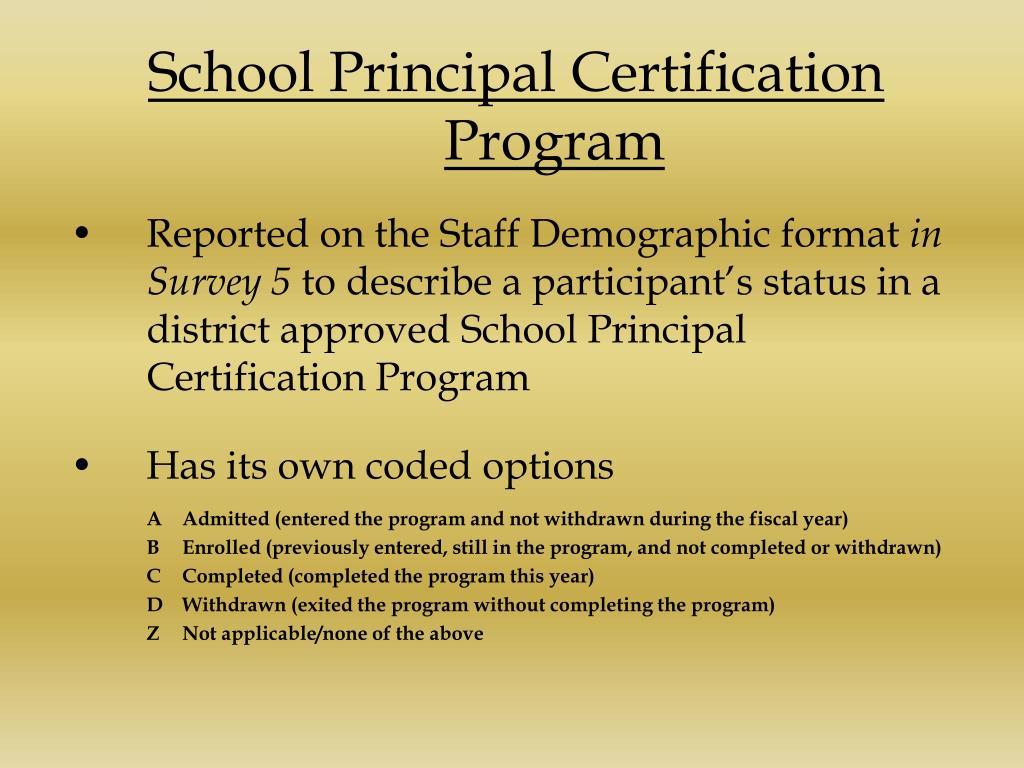School Principal Certification Program