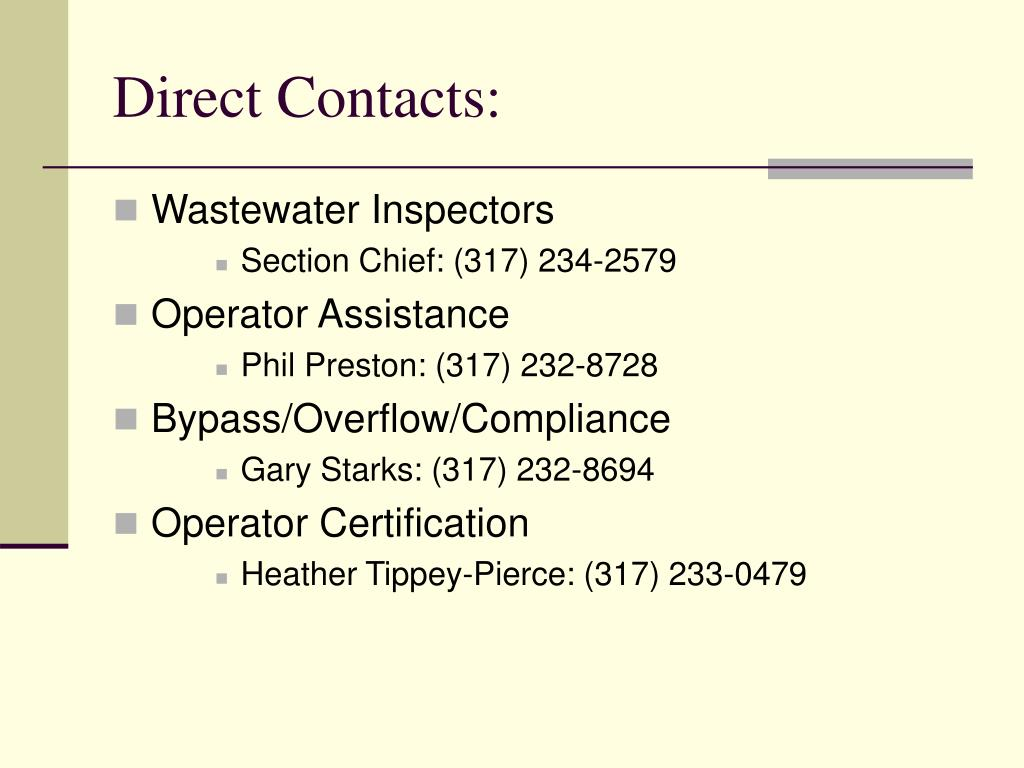 Direct Contacts: