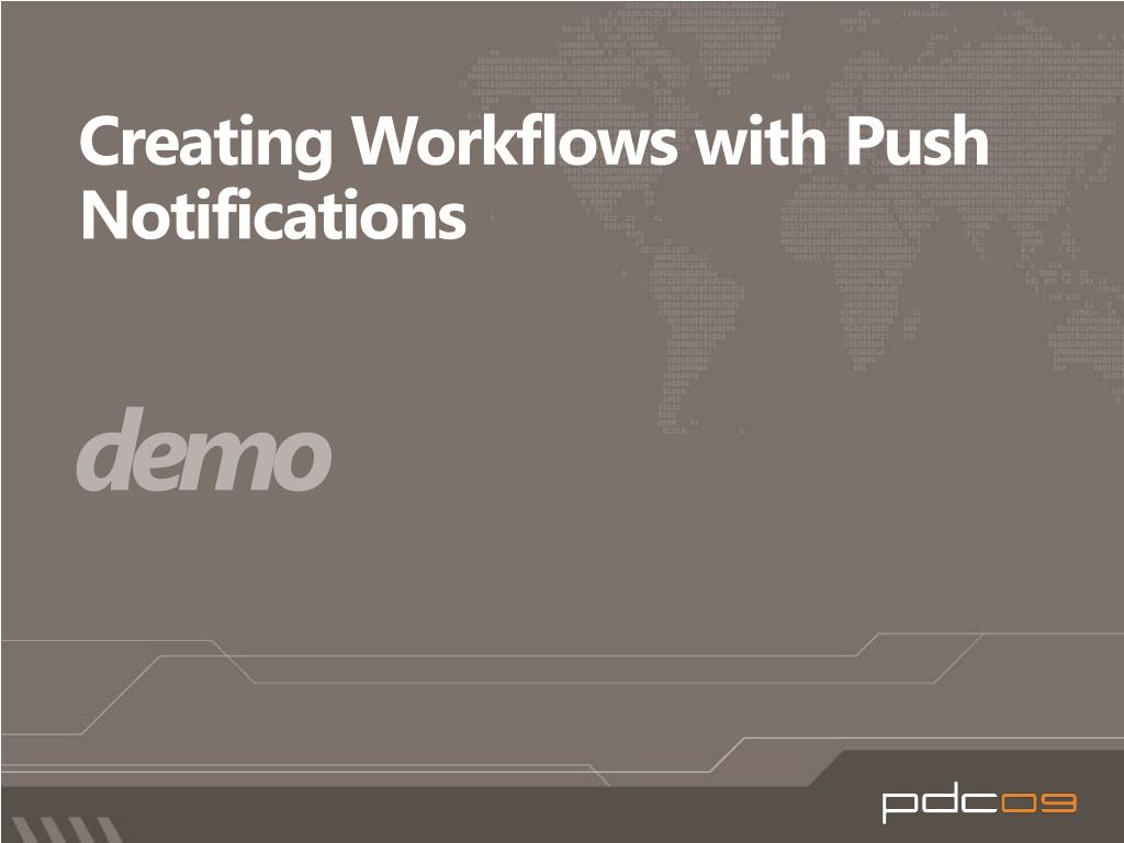 Creating Workflows with Push Notifications