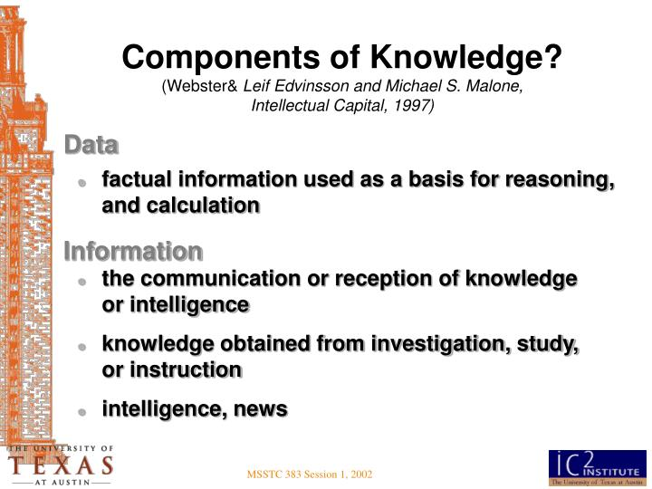 Components of Knowledge?