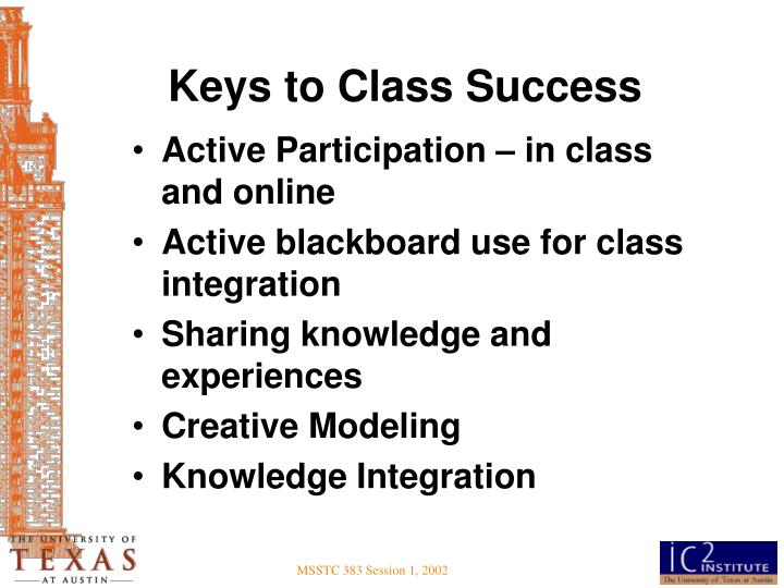Keys to Class Success