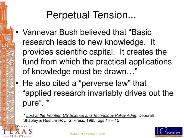 Perpetual Tension...