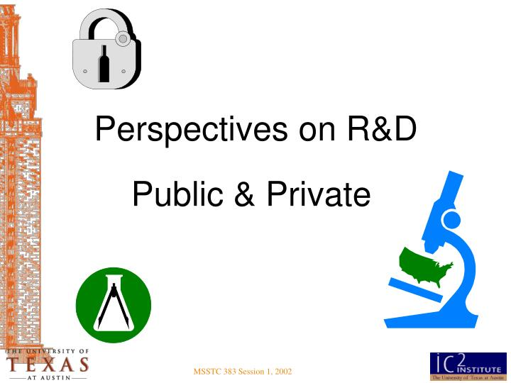 Perspectives on R&D