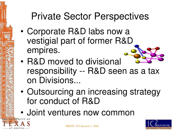 Private Sector Perspectives