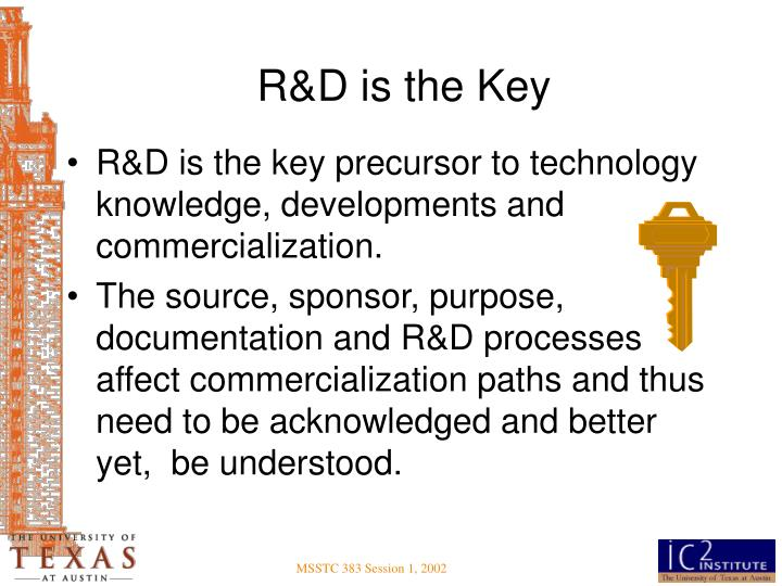 R&D is the Key