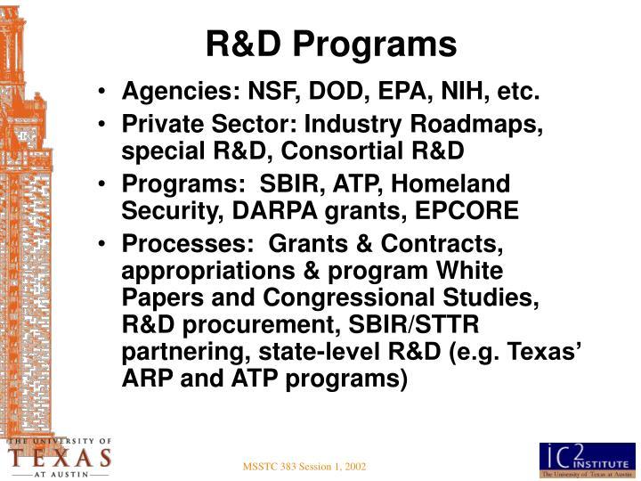 R&D Programs