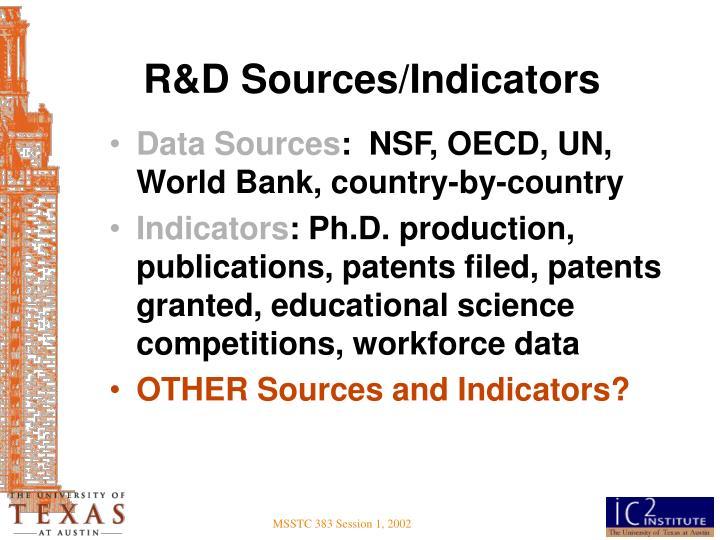 R&D Sources/Indicators