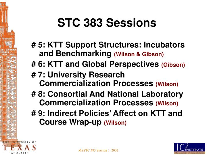 STC 383 Sessions