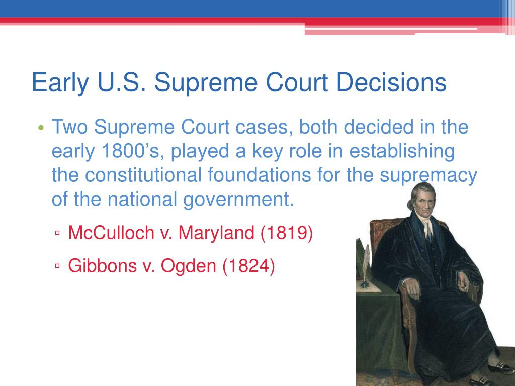 Early U.S. Supreme Court Decisions