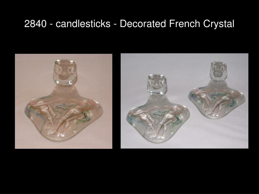 2840 - candlesticks - Decorated French Crystal