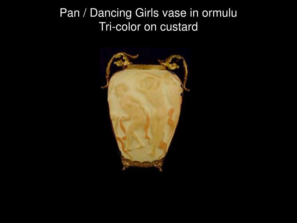 Pan / Dancing Girls vase in ormulu