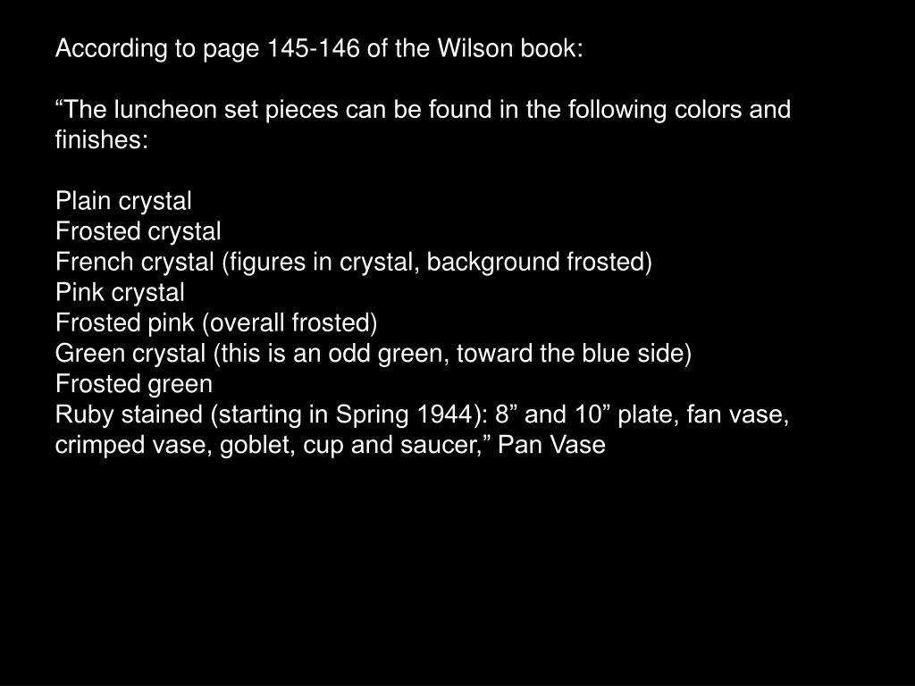 According to page 145-146 of the Wilson book: