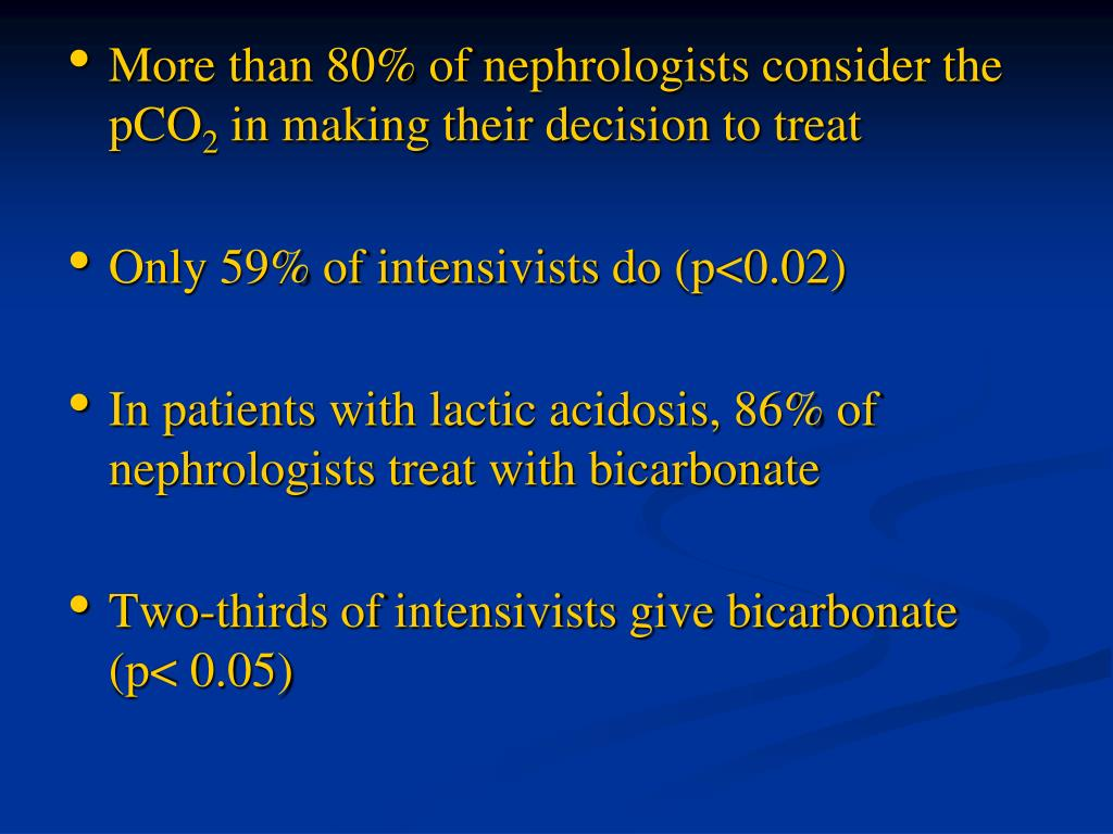 More than 80% of nephrologists consider the pCO