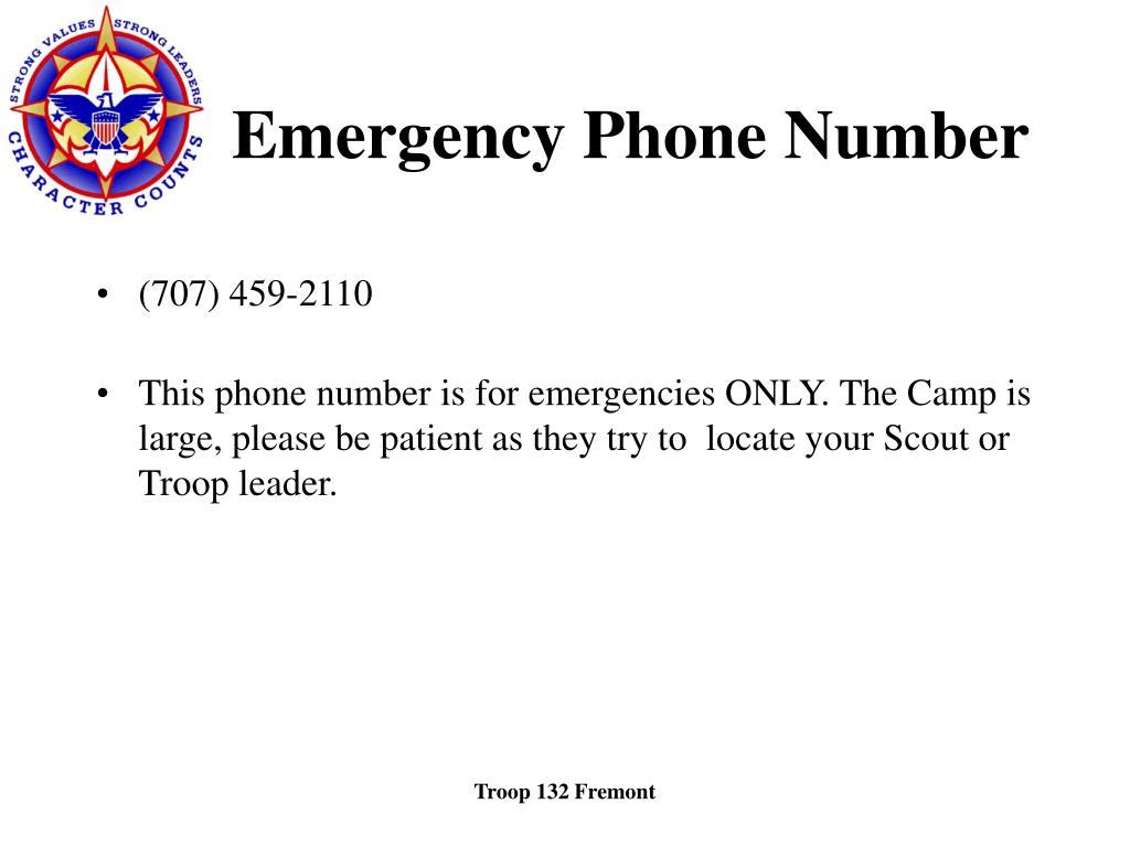 Emergency Phone Number