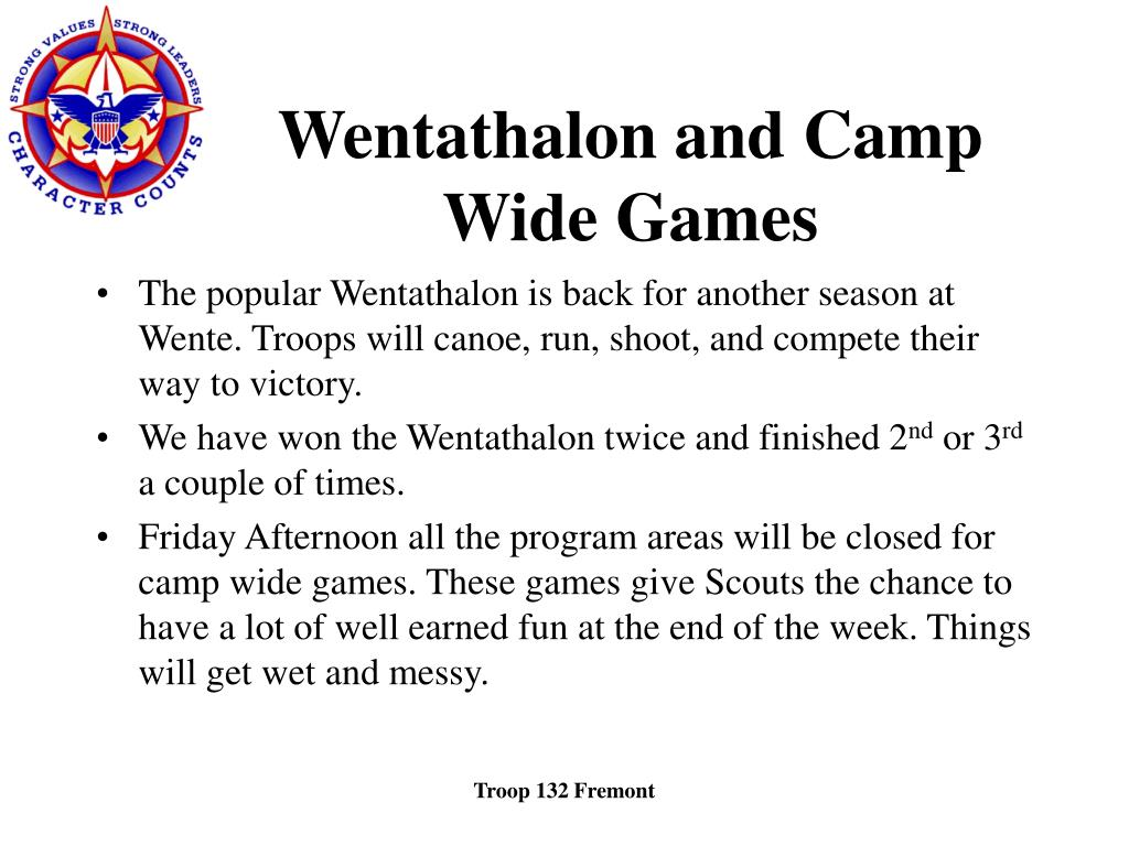 Wentathalon and Camp Wide Games