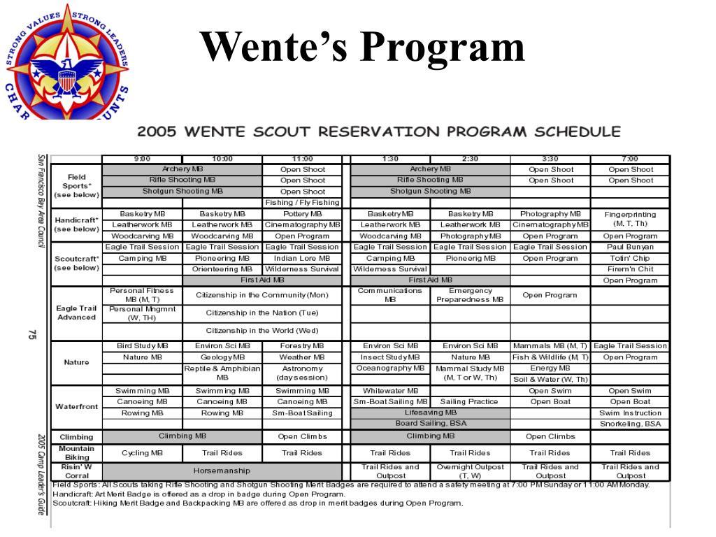 Wente's Program