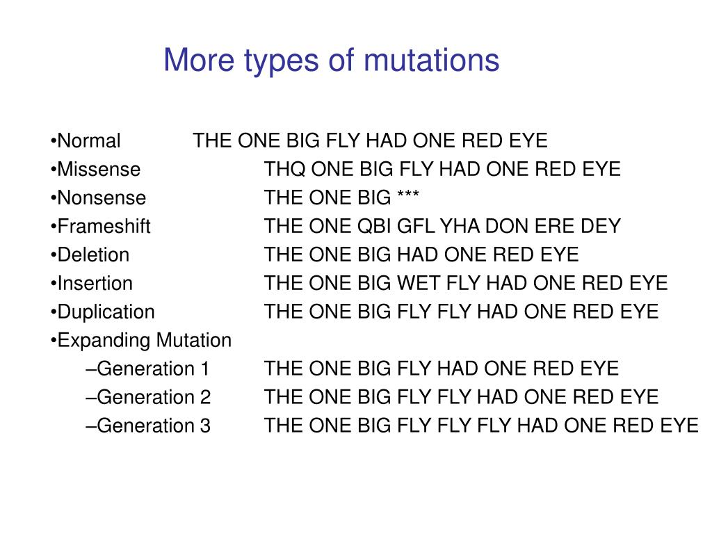 More types of mutations