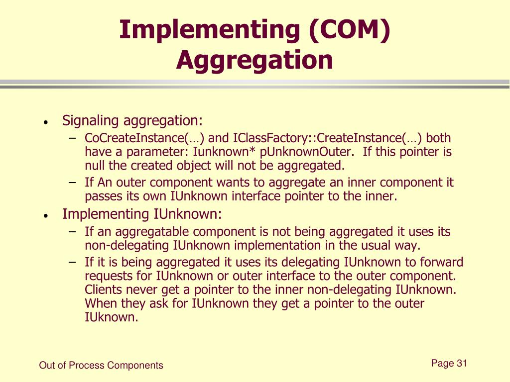 Implementing (COM) Aggregation