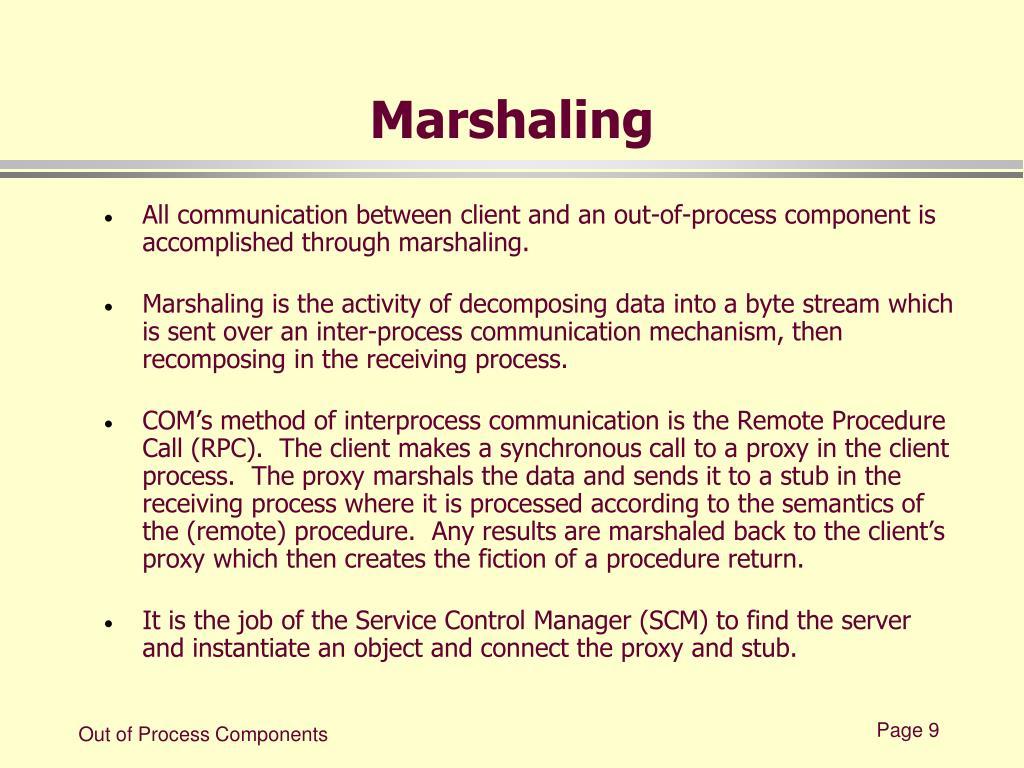 Marshaling