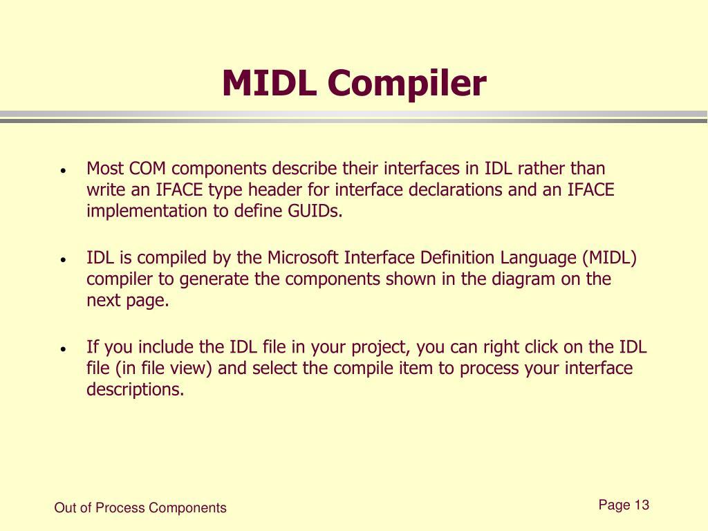 MIDL Compiler