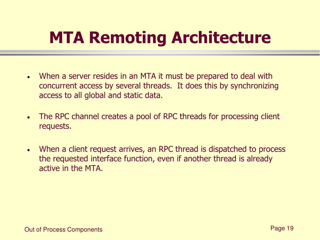 MTA Remoting Architecture