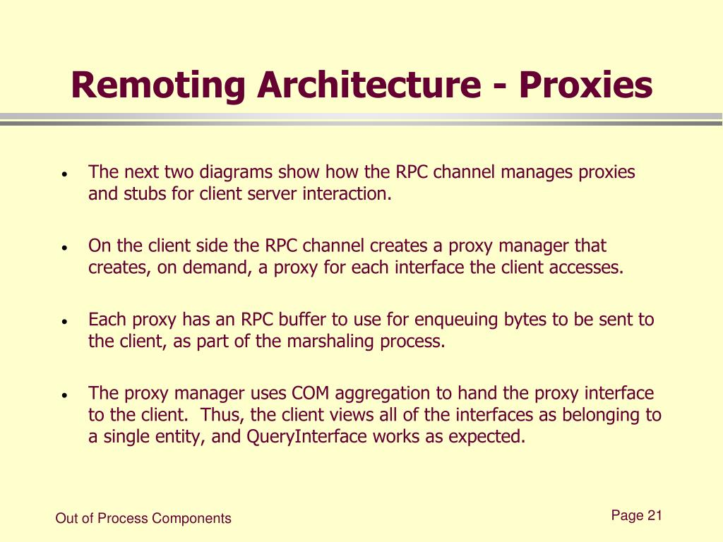 Remoting Architecture - Proxies