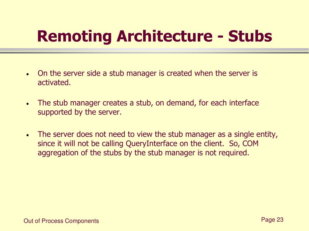 Remoting Architecture - Stubs