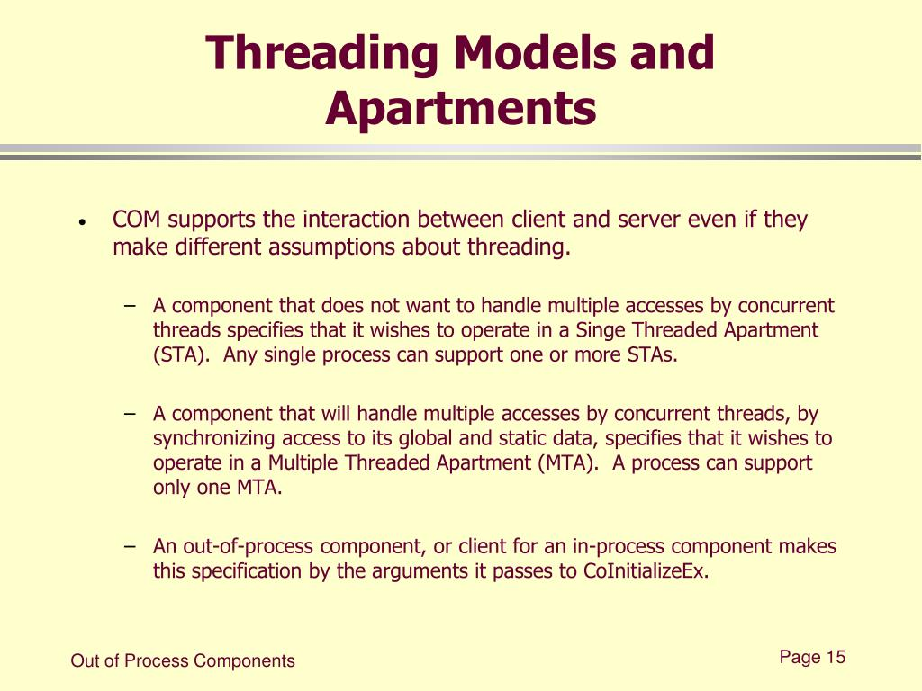 Threading Models and Apartments
