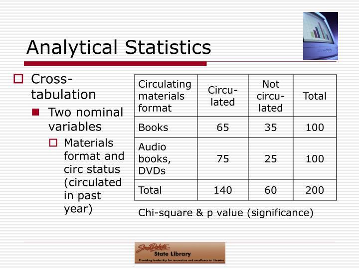 Analytical Statistics