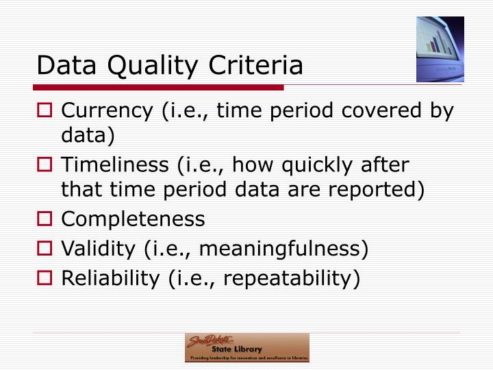 Data Quality Criteria