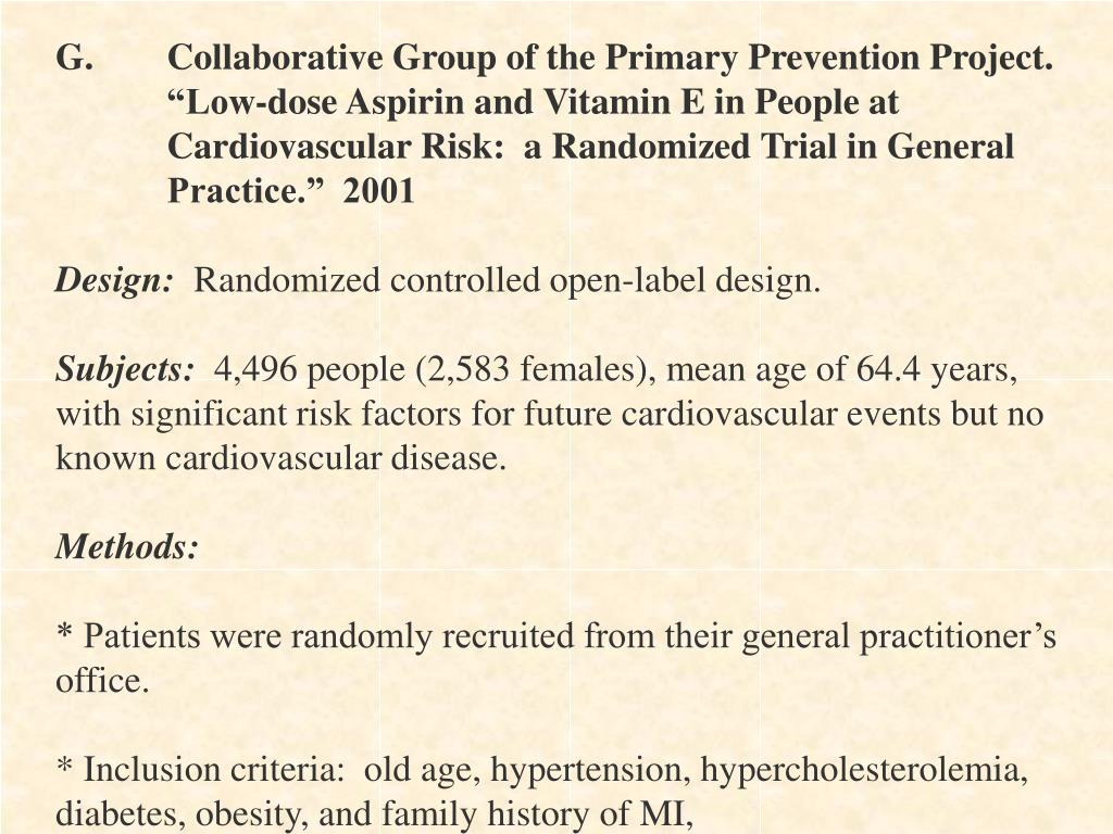 G.Collaborative Group of the Primary Prevention Project.