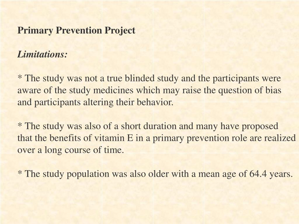 Primary Prevention Project