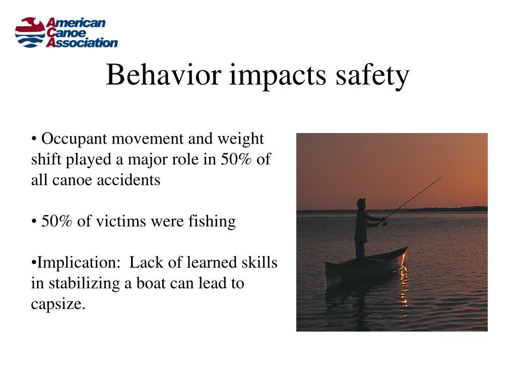 Behavior impacts safety