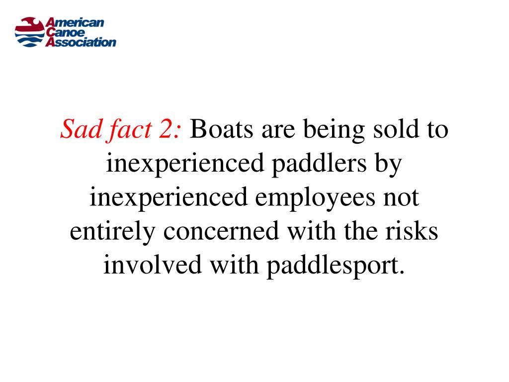 Sad fact 2: